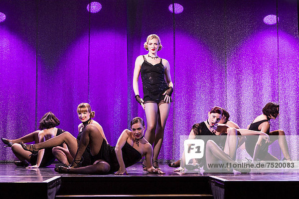 'Musical ''Chicago'' with Natascha-Cecillia Hill as Velma Kelly  live performance  Le ThȂtre in Kriens  Lucerne  Switzerland  Europe'
