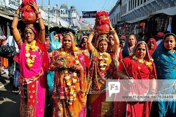 Frau  Hochzeit  Pushkar  Rajasthan