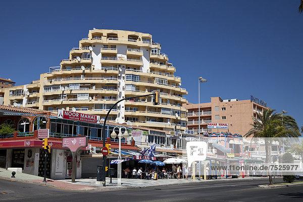 Hotels im Zentrum,  Benalmadena,  Provinz Malaga,  Costa del Sol,  Andalusien,  Spanien,  Europa,  ÖffentlicherGrund