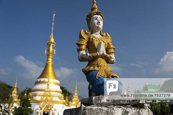 Pagoda or Chedi  Temple of Wat Jong Klang or Chong Klang  Mae Hong Son  Northern Thailand  Thailand  Asia