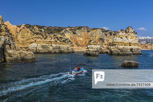 Küste  Praia Dona Ana  Lagos  Algarve  Portugal  Europa
