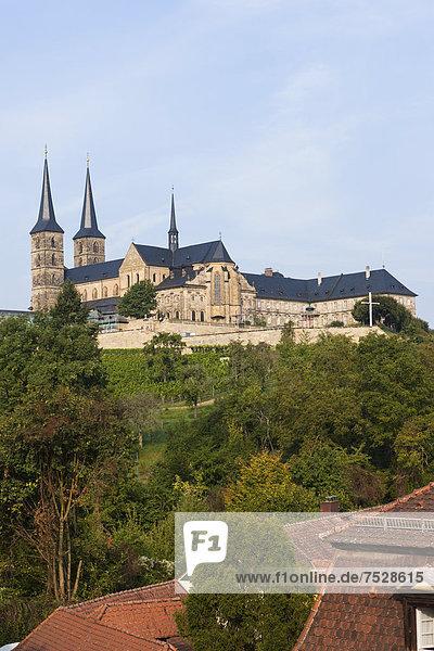 Blick auf den Bamberger Dom,  Bamberg,  Oberfranken,  Franken,  Bayern,  Deutschland,  Europa,  ÖffentlicherGrund