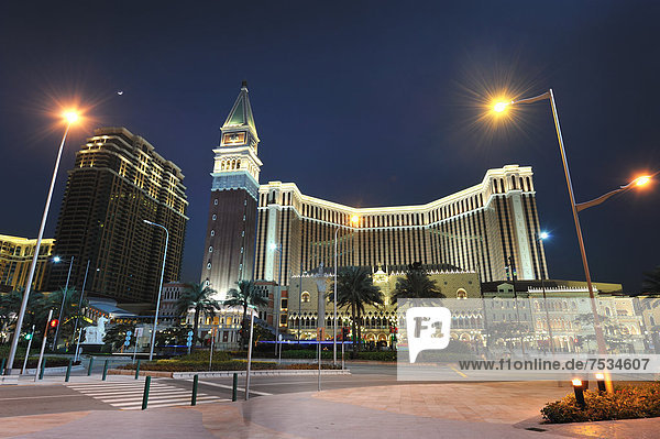 Macao bei Nacht  China  Asien
