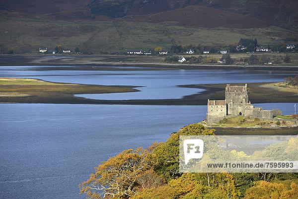 Eilean Donan Castle  Schottland  Vereinigtes Königreich  Europa