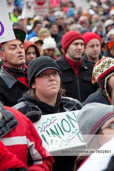 arbeiten  Einheit  Unterstützung  Hektik  Druck  hektisch  Mitglied  Ente  Lansing  Michigan  Schober  rechts  Gewerkschaft