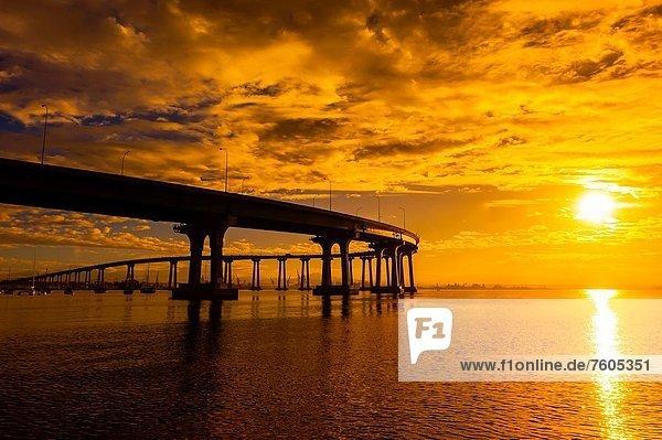 Coronado Bridge  Coronado Island San Diego  California USA