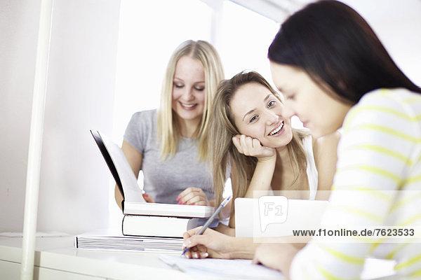 Teenager-Mädchen studieren zusammen