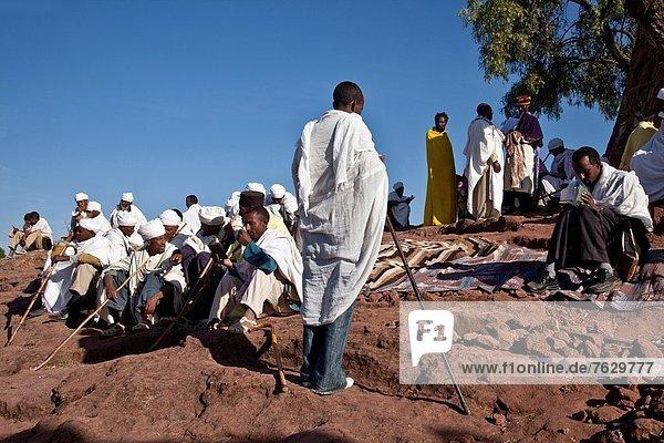 Kirche  Außenaufnahme  Dienstleistungssektor  Teilnahme  Pilgerer  Christ  Äthiopien