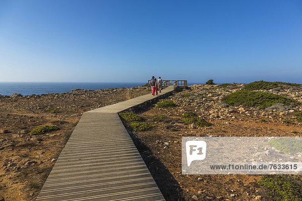Steg zum Aussichtspunkt  Carrapateira  Algarve  Westküste  Portugal  Europa