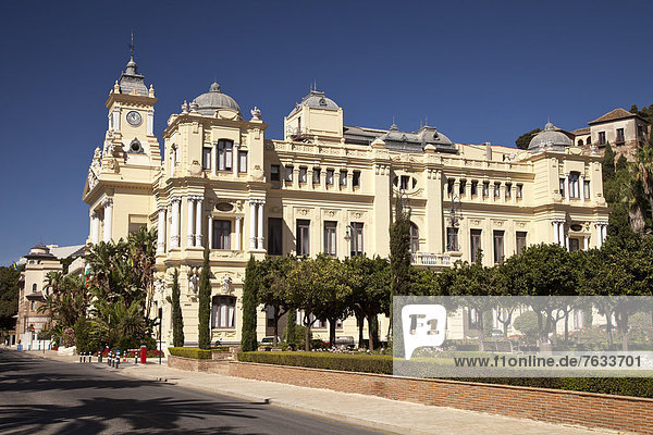 Rathaus el Ayountamiento  M·laga  Andalusien  Spanien  Europa  ÖffentlicherGrund