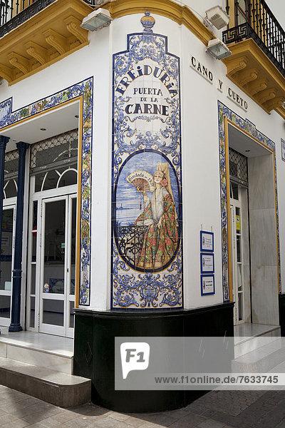 Europa Fotografie Wand Produktion Großstadt Geschichte Kachel Andalusien Sevilla Spanien