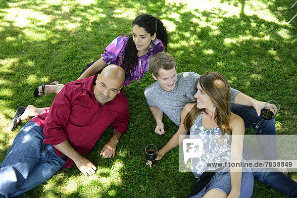 USA  United States  America  North America  Oregon  Jacksonville  patio  outdoor  summer  wine  glass  lawn  happy  young  group  people  woman  man  friends