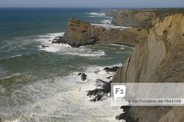Felsbrocken  Europa  Steilküste  Küste  Meer  Algarve  Portugal