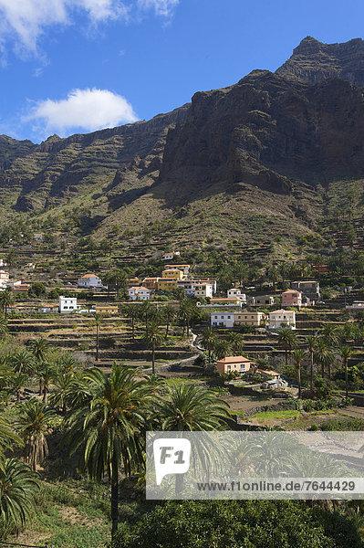 Außenaufnahme Baustelle Europa Tag Wohnhaus Gebäude niemand Architektur Kanaren Kanarische Inseln La Gomera Spanien Valle Gran Rey