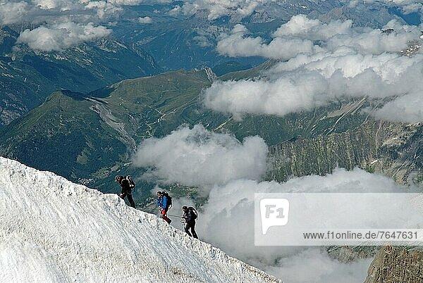 Bergsteiger  Frankreich  Europa  Ansicht