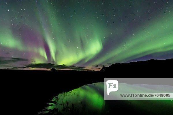 Polarlicht  Skaftafell Nationalpark