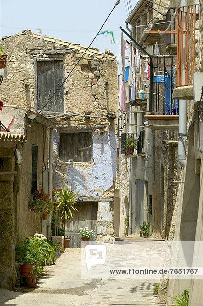 Europa Gasse Dorf Katalonien Spanien
