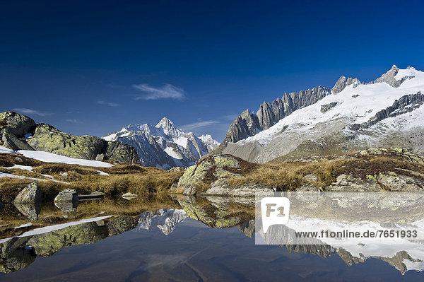 Europa  über  klein  See  UNESCO-Welterbe  Bettmeralp  Schweiz
