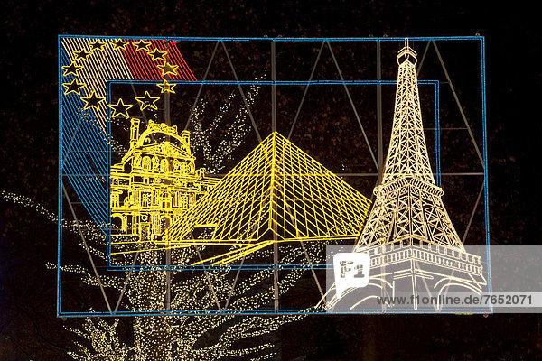 zeigen  Frankreich  Europa  Beleuchtung  Licht  02 Themen  Essen  Stadt  Deutschland  Nordrhein-Westfalen  Ruhrgebiet