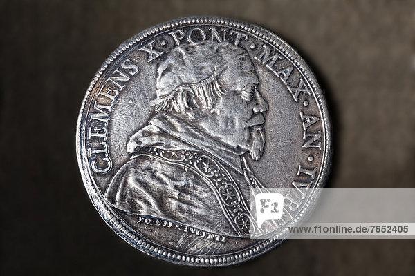 Portrait  Antiquität  Silber  Geldmünze