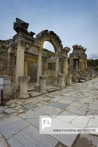 Temple of Hadrian  ancient city of Ephesus  Efes  Izmir province  Turkey  Asia