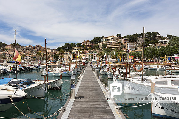 Fischereihafen Fischerhafen Hafen Europa Boot angeln Mallorca Balearen Balearische Inseln Spanien