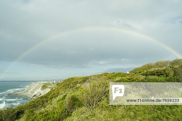 Rainbow on the cliffs of Ciboure  France