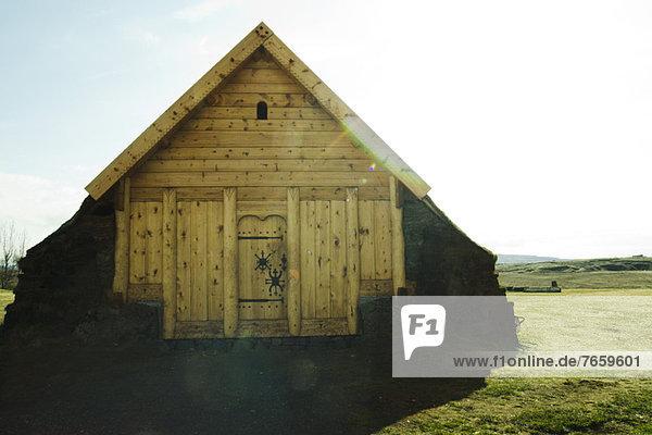 Kleines Holzhaus Skalholt  Island