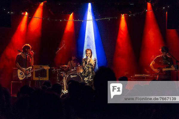 British folk-pop singer Kyla La Grange performing live in the Schueuer concert hall  Luzern  Switzerland  Europe