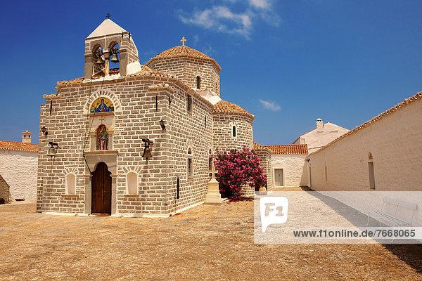 Griechisch-orthodoxes Kloster  Profitis Ilias  Hydra  Saronische Inseln  Griechenland  Europa