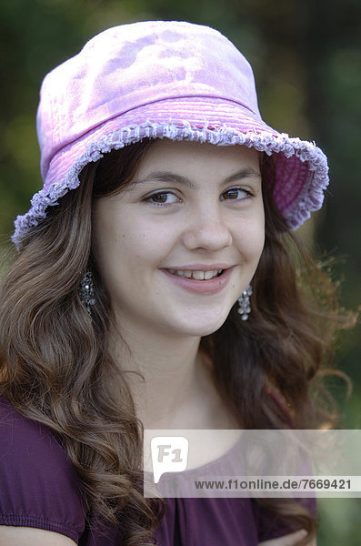 Teenage girl wearing a hat  portrait