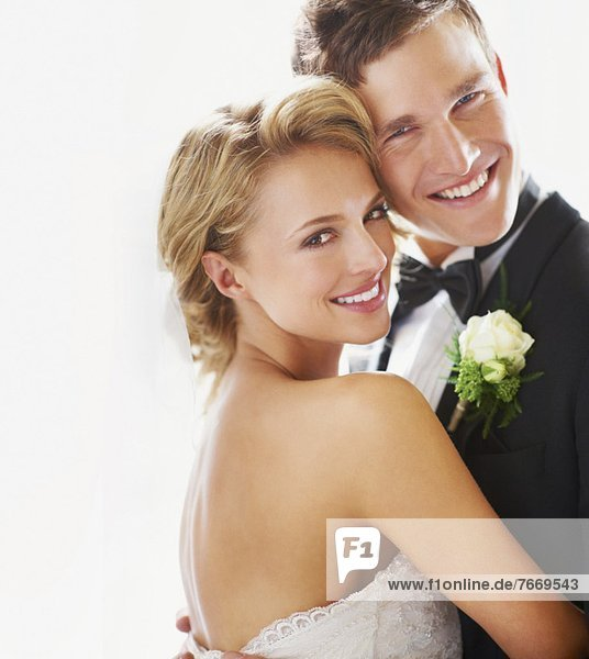 Portrait of newly wed couple