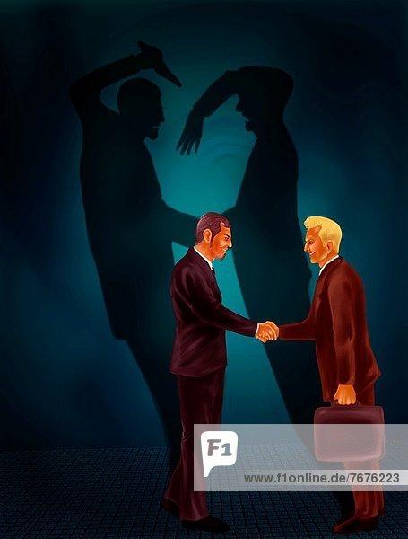 hinter  zeigen  Geschäftsmann  Schatten  schwarz  2  Kriminalität  schütteln