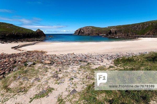 Europa  Strand  Großbritannien  klein  Bucht  Hebriden  Schottland