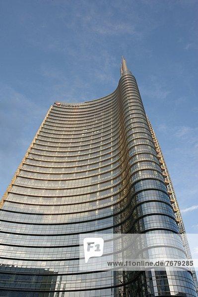 Italien  Lombardei  Mailand  Porta Nuova Garibaldi Turm von Cesar Pelli entworfen