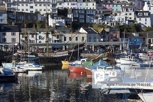 Hafen Großbritannien Brixham Devon England