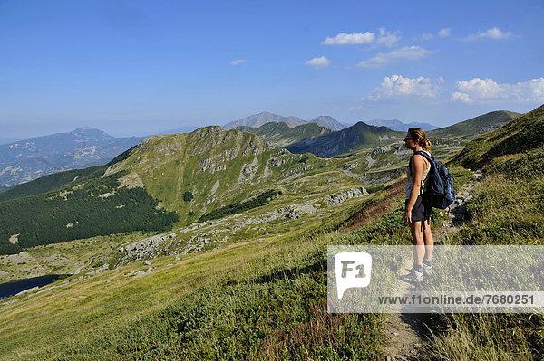 Italy  Emilia Romagna  Parco Nazionale dell'Appennino Tosco Emiliano  trekking toward mount Torricella