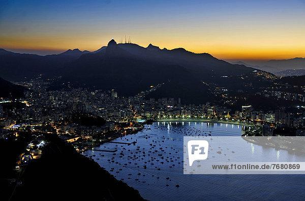 Landschaft Großstadt Seilbahn Brasilien Rio de Janeiro