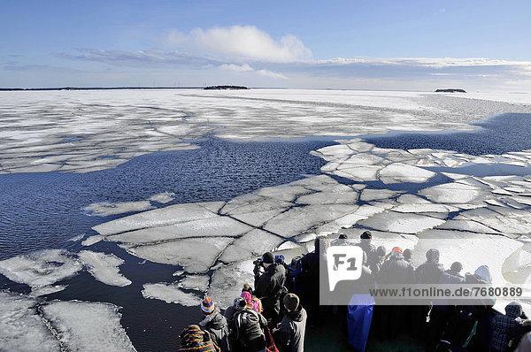 Europa  Mensch  Menschen  Schiff  Piteälven  Eisbrecher  Schweden