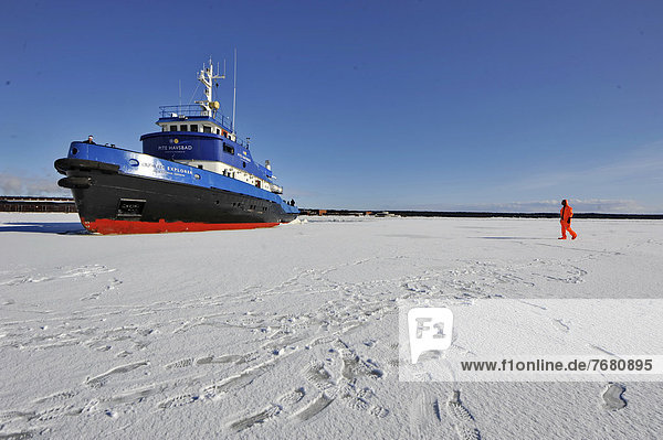 Europa  Eis  Schiff  Piteälven  Eisbrecher  Schweden