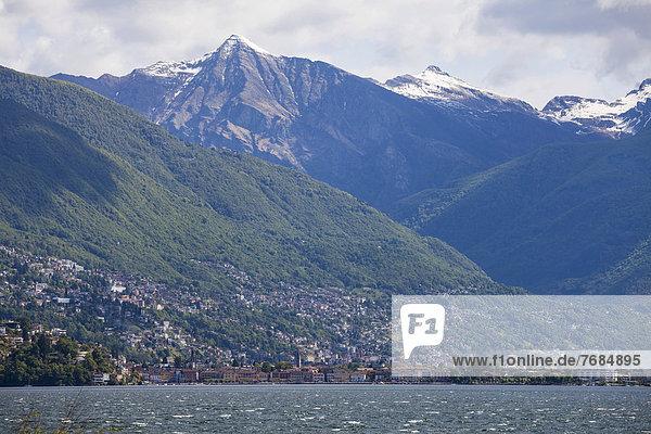 Ascona  Blick von den Brissago-Inseln  Lago Maggiore  Tessin  Schweiz  Europa