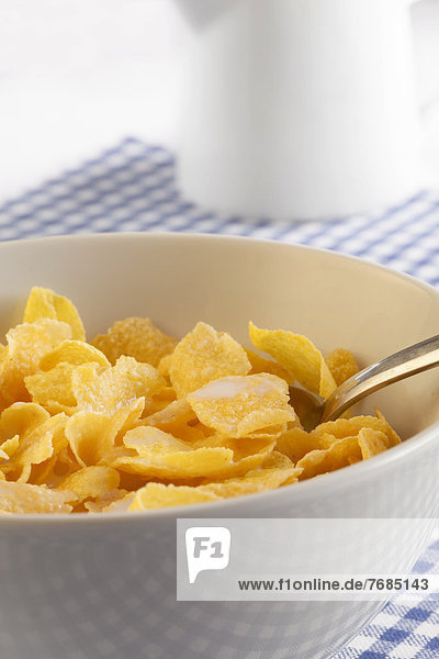 Cornflakes in einer Schüssel