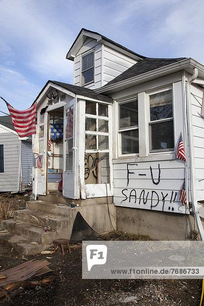 Wohnhaus Sand Inhaber Nachricht Schwierigkeit Vernichtung Hurrikan