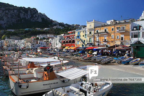Italy  Campania  Capri  Marina Grande  the harbour