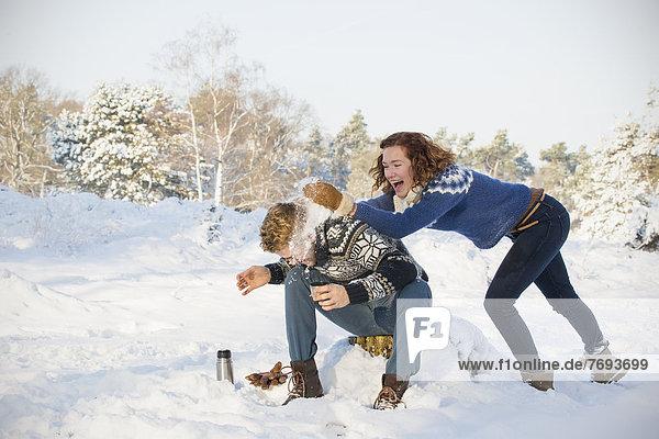 Europäer  Spiel  Schnee