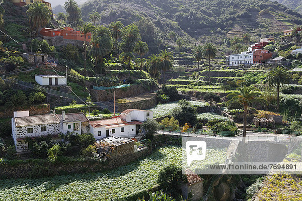 Spanien  La Gomera  Blick auf Banda de las Rosas bei Vallehermoso