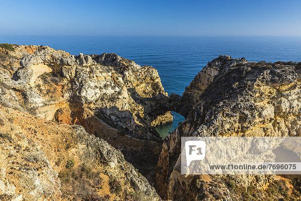 Felsklippen  Ponta da Piedade  Lagos  Algarve  Portugal  Europa  Atlantik