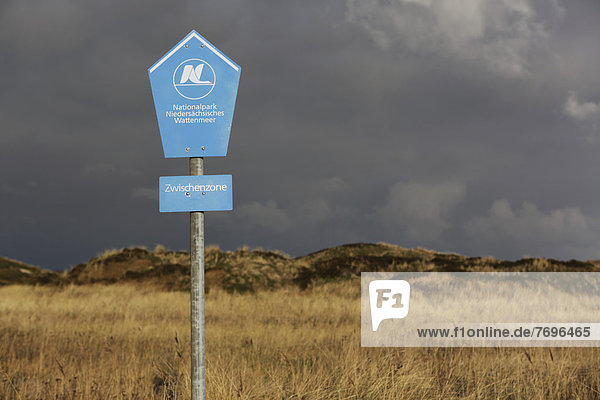 'Schild ''Nationalpark Niedersächsisches Wattenmeer'''