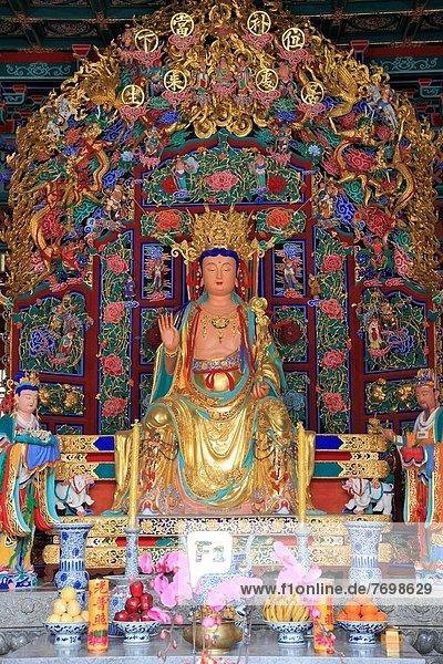 China  Yunnan  Kunming  Yuantong Temple  Buddha statue