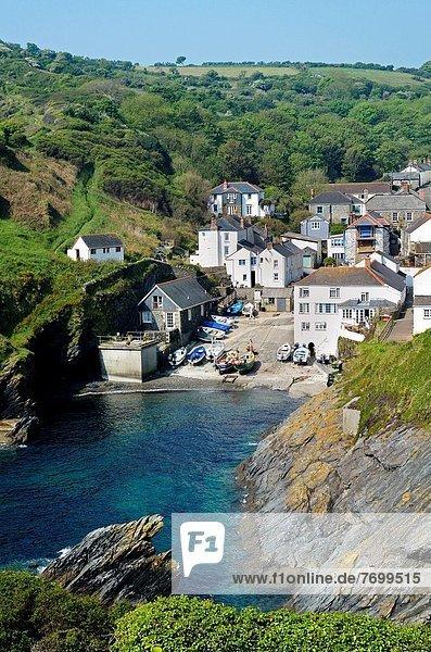 Großbritannien klein Dorf reizen Cornwall England